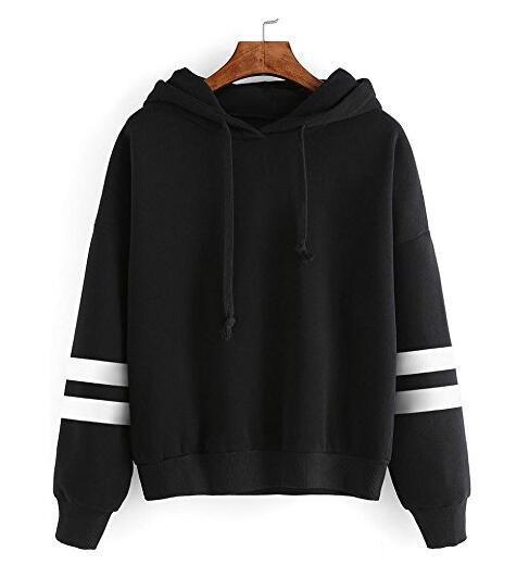 2019 Autumn Women Hoodies Sweatshirt Casual Stripe Long Sleeve Young Girls Plus Size Hoodies