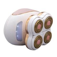 4 лезвия Электрический эпилятор для женщин для удаления волос гладкое касание безболезненное удаление волос Бритва безопасный безболезненный депилятор USB Перезаряжаемый