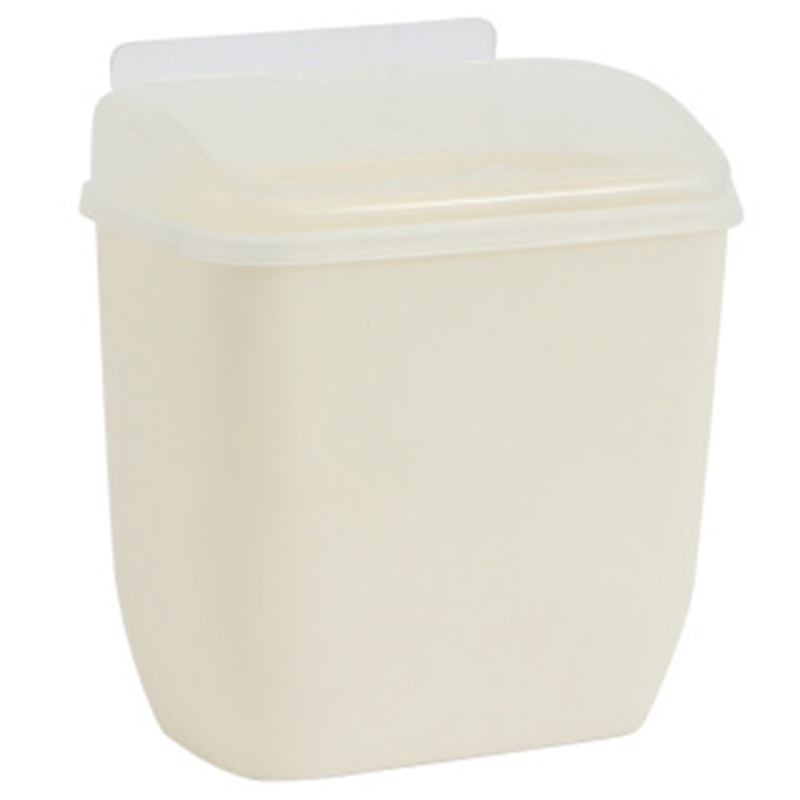 Storage Box Waste Can Wall Mount Bins With Cover Creative Wall Magic Sticker Bathroom Kitchen Toilet Waste Bins Plastic Box|Waste Bins| |  - title=