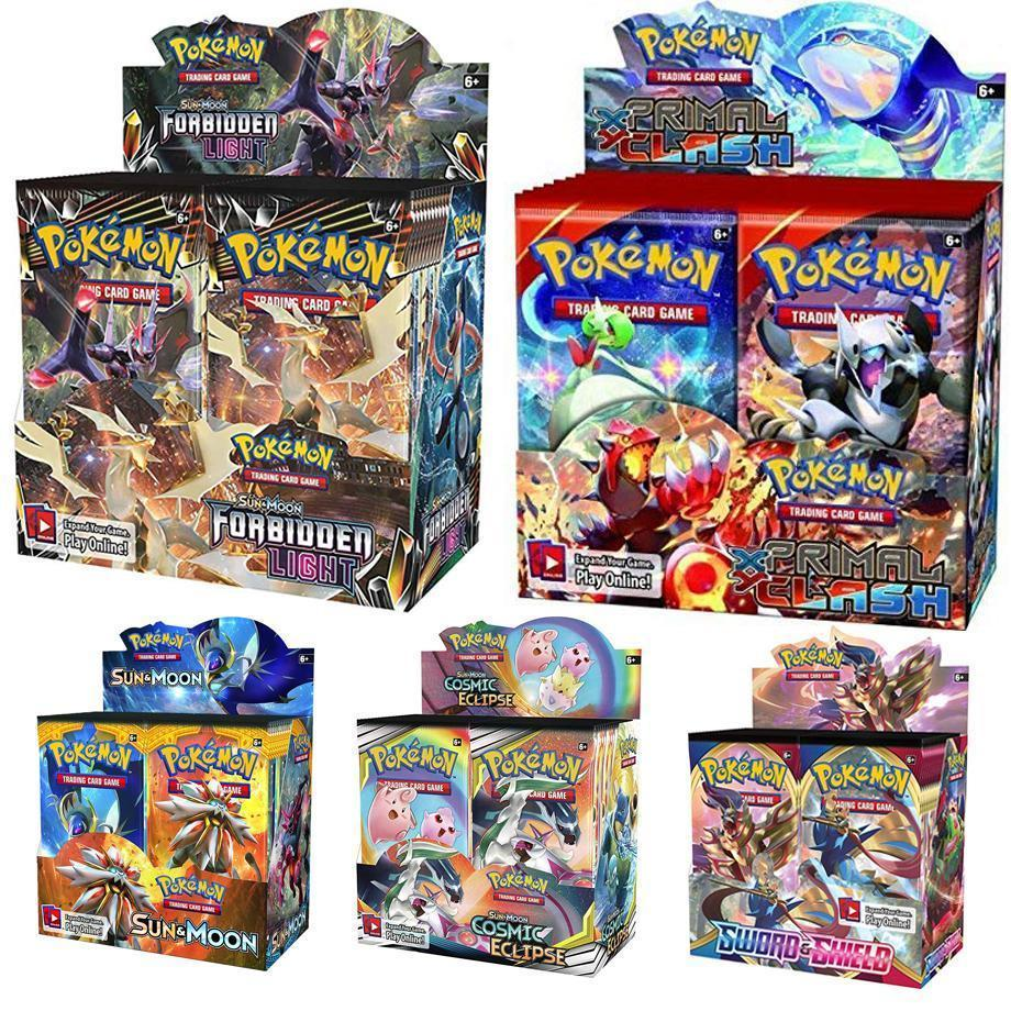 324 Pokmon TCG Cards: Sun And Moon Unified Mind Game Card In A Box Of 36 Bags Of Toys