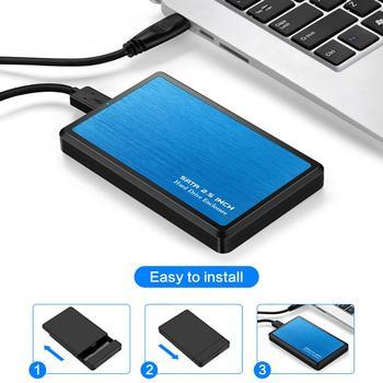 Zinc Alloy USB 3.0 SATA 2.5 inch Hard Drive Enclosure SSD Solid State Disk Case