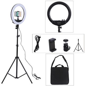 14 Inch Photo Studio Lighting LED Ring Light 240PCS 3200-5600k Photography Dimmable Ring Lamp with Stand for Portrait,Makeup