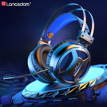 Langsdom&JDG G2 USB 7.1 Wired Gaming Headset Gamer Headphones  with Noise Cancelling Microphone for PC/Laptop/PS4/PUBG Gamer somic g954 usb 7 1 gaming headset headphones with microphone noise cancelling stereo bass vibration led light for pc ps4 gamer