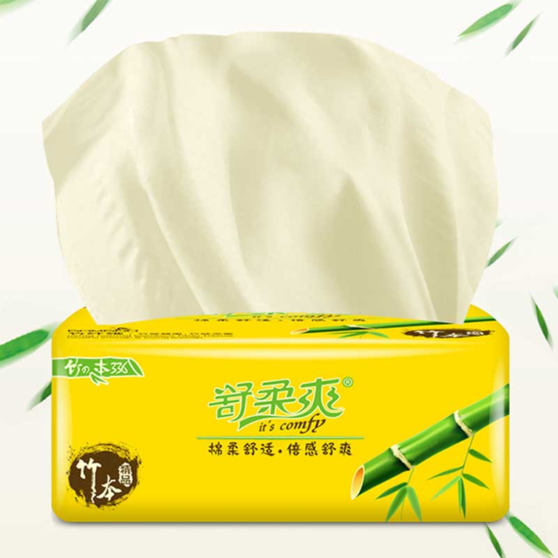 10 Packed  Bamboo Facial Tissue Household Kitchen Comfortable Soft Bathroom Toilet Paper No Fragrance Hotel Home Toilet Tissue