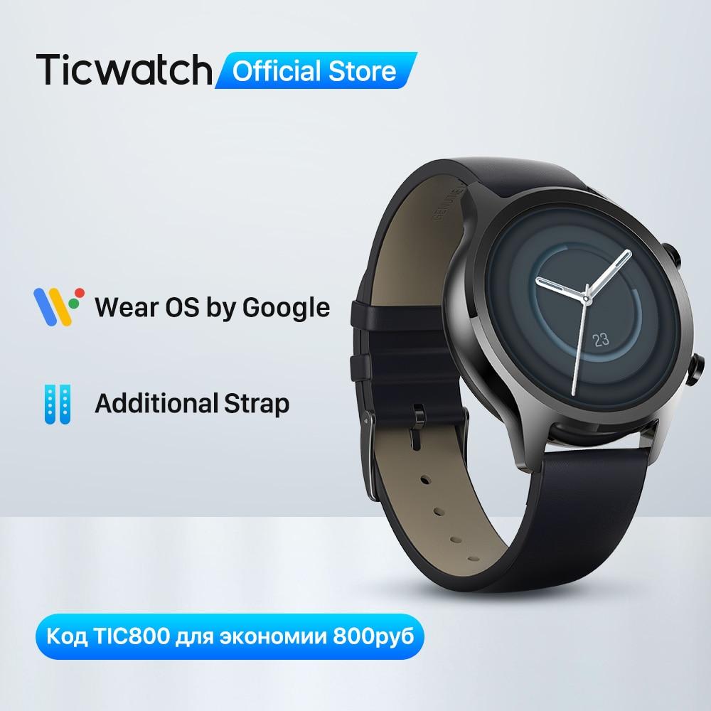TicWatch C2 Plus Wear OS Smartwatch 1GB RAM wbudowany GPS Fitness Tracking IP68 wodoodporny zegarek NFC Google Pay damski zegarek