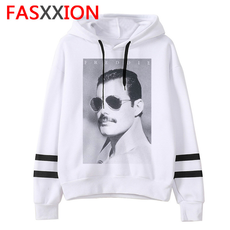 Freddie Mercury Men Sweatshirt Funny Hip Hop Casual Funny Hoodie Man/women Fashion Hood Oversized Streetwear Male