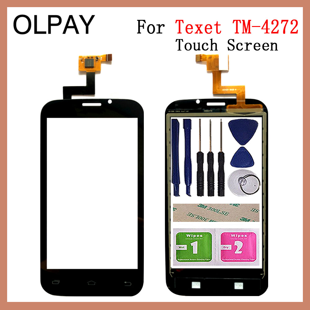 Mobile Phone TouchScreen 4.0'' Inch For TeXet X-basic 2 TM-4272 Touch Screen Glass Digitizer Panel Lens Sensor Glass Repair