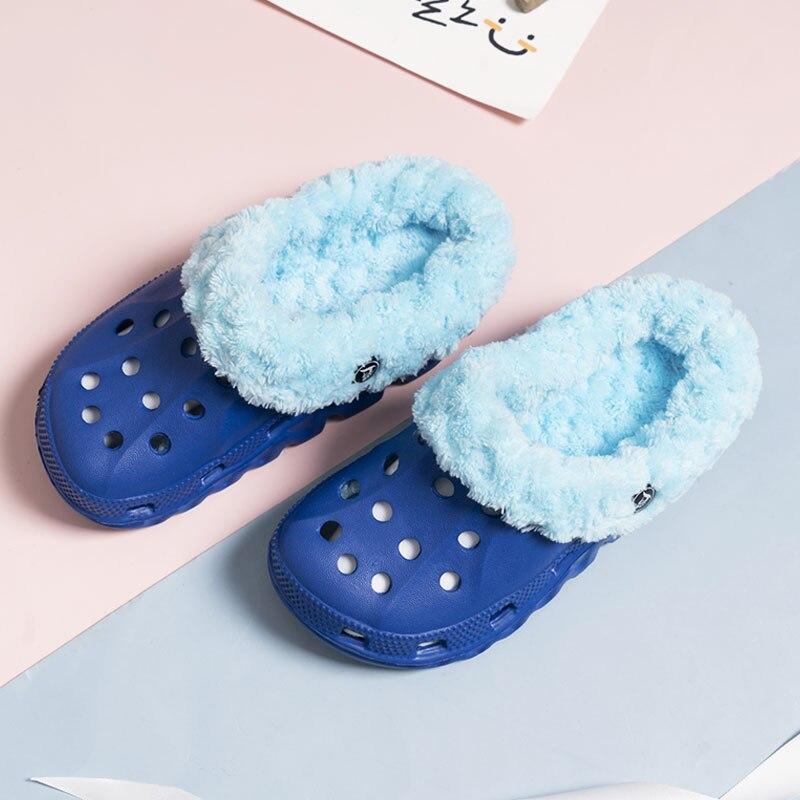 Ltolo Children Kids Boys Girls Mules Warm Clogs Winter Crock Garden Sandals Slippers Cave Hole Baby Shoes For Boy Girl  EUR24-35