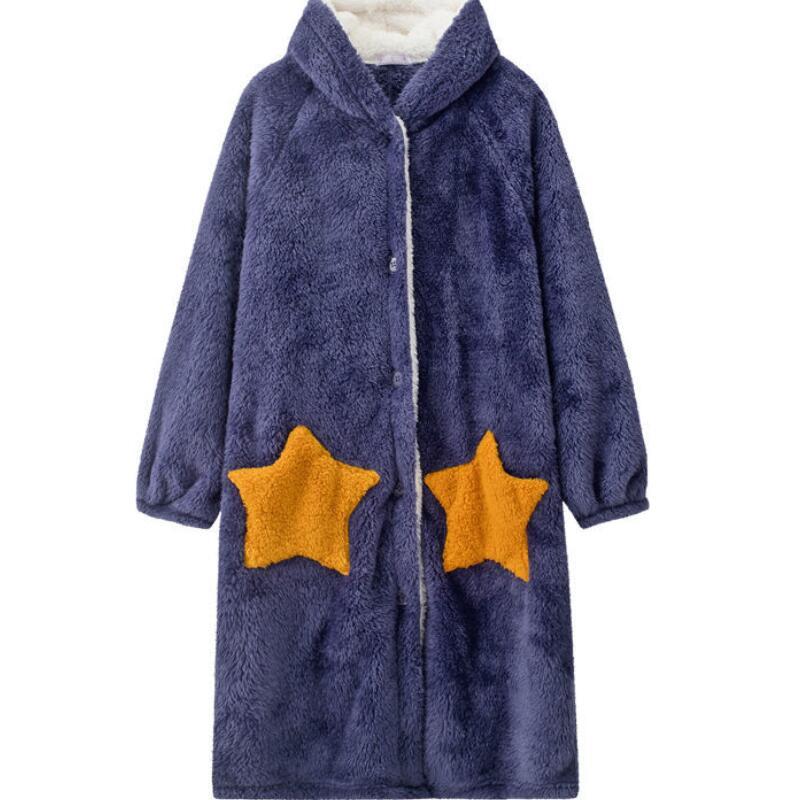 Winter-Blanket-with-Sleeve-Hooded-Hoodie-Women-Long-Sweatshirt-Female-Indoor-Pajama-Cardigan-Fleece-Jacket-Fannel. (4)