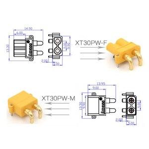 Image 5 - Conector macho y hembra macho de enchufe de ángulo recto conector macho y hembra para Motor ESC, placa PCB, conexión de enchufe, 100 x AMASS XT30PW Banana golden XT30 (50 pares)