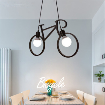 Bicycle shape Metal chandelier Creative Iron Ceiling Lamp E27 Bulb Home Lighting Fixture Nordic Party Led lamp Home decoration elegant fashion lady women holiday playsuit romper long trousers loose jumpsuit summer beach sleeveless v neck sexy bodysuit