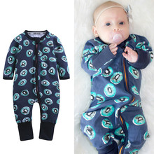 Baby Clothes Spring Romper Girl Autumn Kiwi Pattern Zipper Newborn Rompers Boy Clothing Lucky Child 40