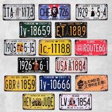 Американский автомобильный номерной знак металлический американский