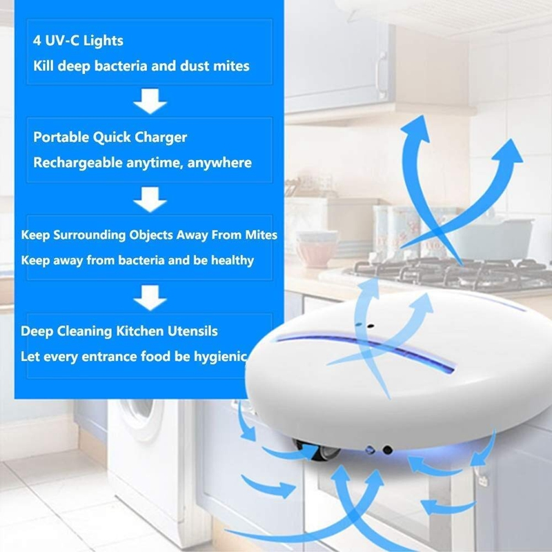 Bacteria Killing Robot Cleanse Bot For Practical Convenient Home And Travel Household UV Sterilizers Mite Killer Robot