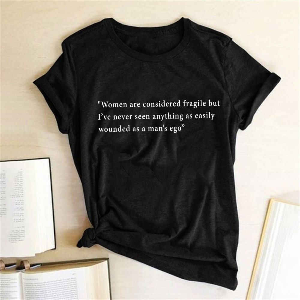 Feminist T Shirt Women Graphic Print T Shirt Top Harajuku Women Female Girl Summer Short Sleeve T-shirt Tee Shirt Chemise Femme