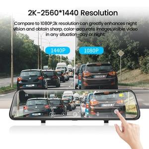 Image 3 - E ACE araba dvrı FHD akışı medya dikiz aynası 2K + 1080P Video kaydedici çift Lens Dash kamera ile dikiz kamera Registrator