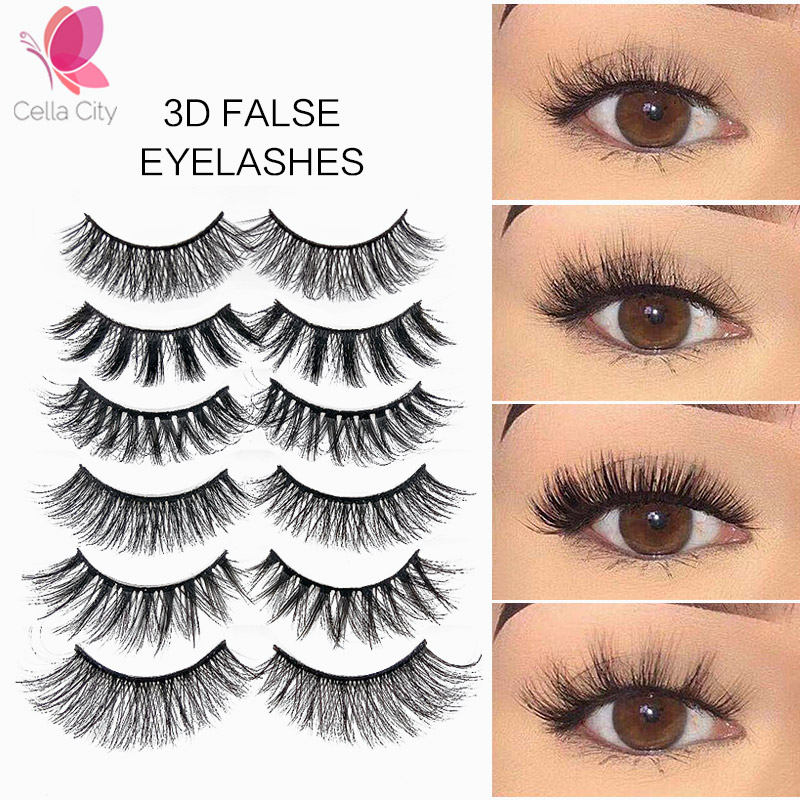 Cellacity 5pairs False Eyelashes Thick Lashes 3d Mink Eyelashes Natural False Lashes Eyelash Extension Faux Cils Maquiagem
