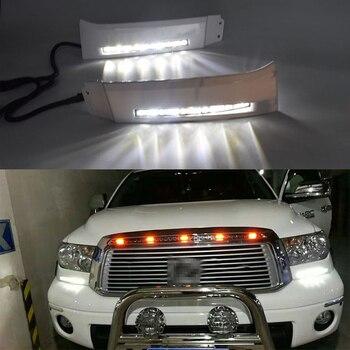 цена на ECAHAYAKU  High Power/Qulity 12V Car LED DRL Daytime Running Light fog lamp for Toyota Tundra 2008 2009 2010 2011 2012 2013 2PCS