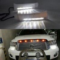 ECAHAYAKU High Power/Qulity 12V Car LED DRL Daytime Running Light fog lamp for Toyota Tundra 2008 2009 2010 2011 2012 2013 2PCS