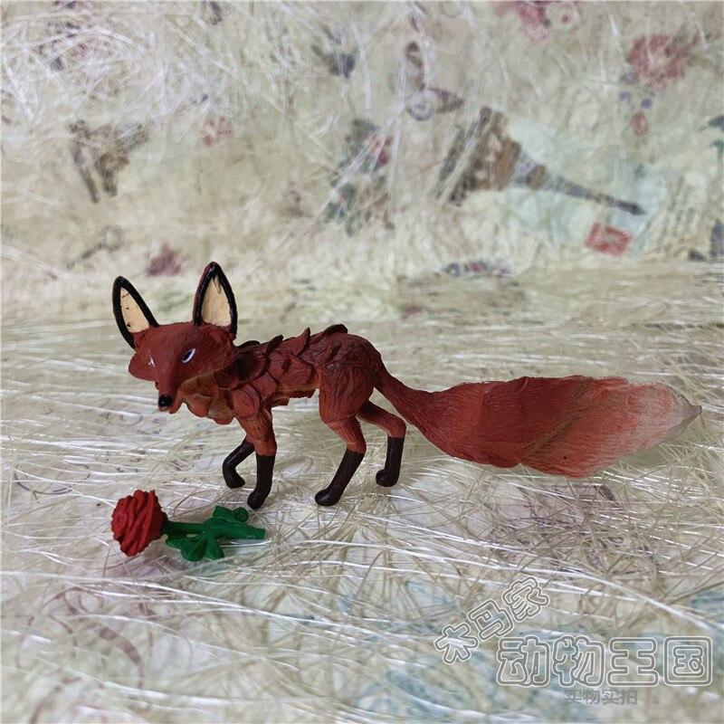 pvc figure models toys Littleprince fox rose small ornaments 2pcs/set