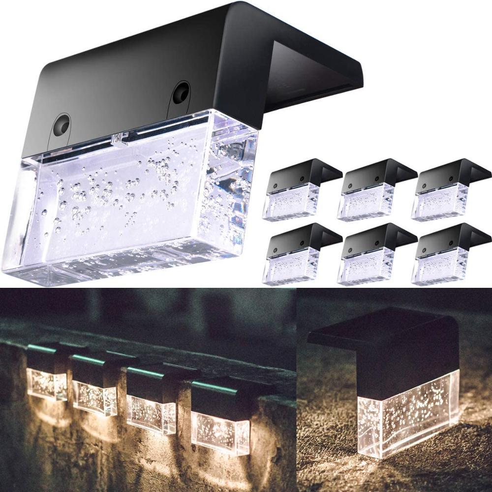 Светодиодный солнечный светильник палуба светильник забор Светильник Солнечный светодиодный светильник на открытом воздухе садовый свет...
