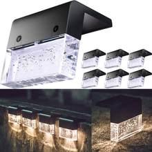 Luz LED Solar para terraza, luz de valla, luz LED Solar, luces de jardín al aire libre, lámpara de calle, luces de escalón