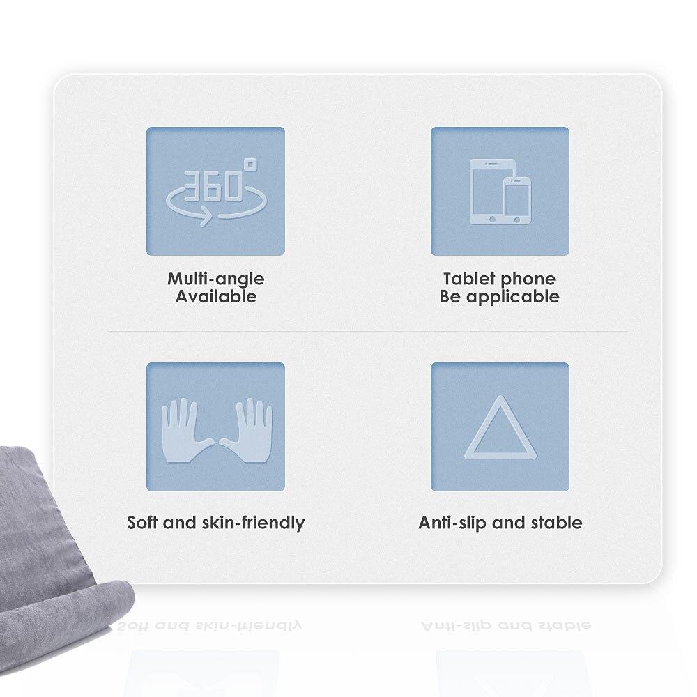 Esponja travesseiro tablet suporte para tablet suporte do telefone cama resto tablette suporte de leitura para ipad samsung huawei xiaomi 5