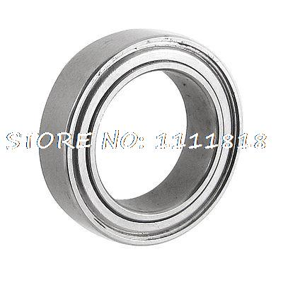Shielded 10mm X 15mm X 4mm Silver Tone Mini Deep Groove Ball Bearing