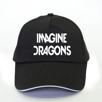 Imagine Dragons Letter Print Baseball Cap Women Harajuku pop Trucker Cap 2020 Summer men Leisure Snapback hat цена 2017