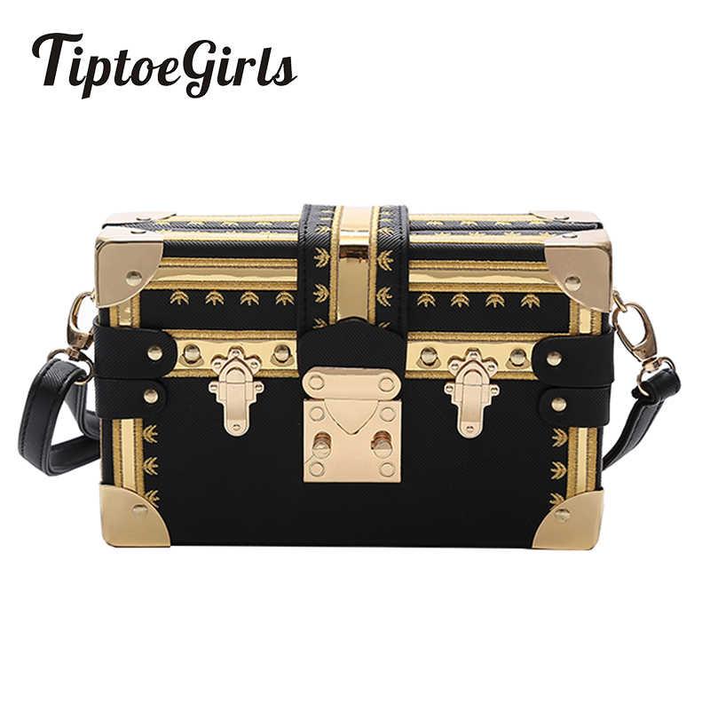 Mode boîte femmes sac Rivets mode femmes Messenger sacs petit carré filles sacs à bandoulière 2018 nouveau femelle épaule paquets