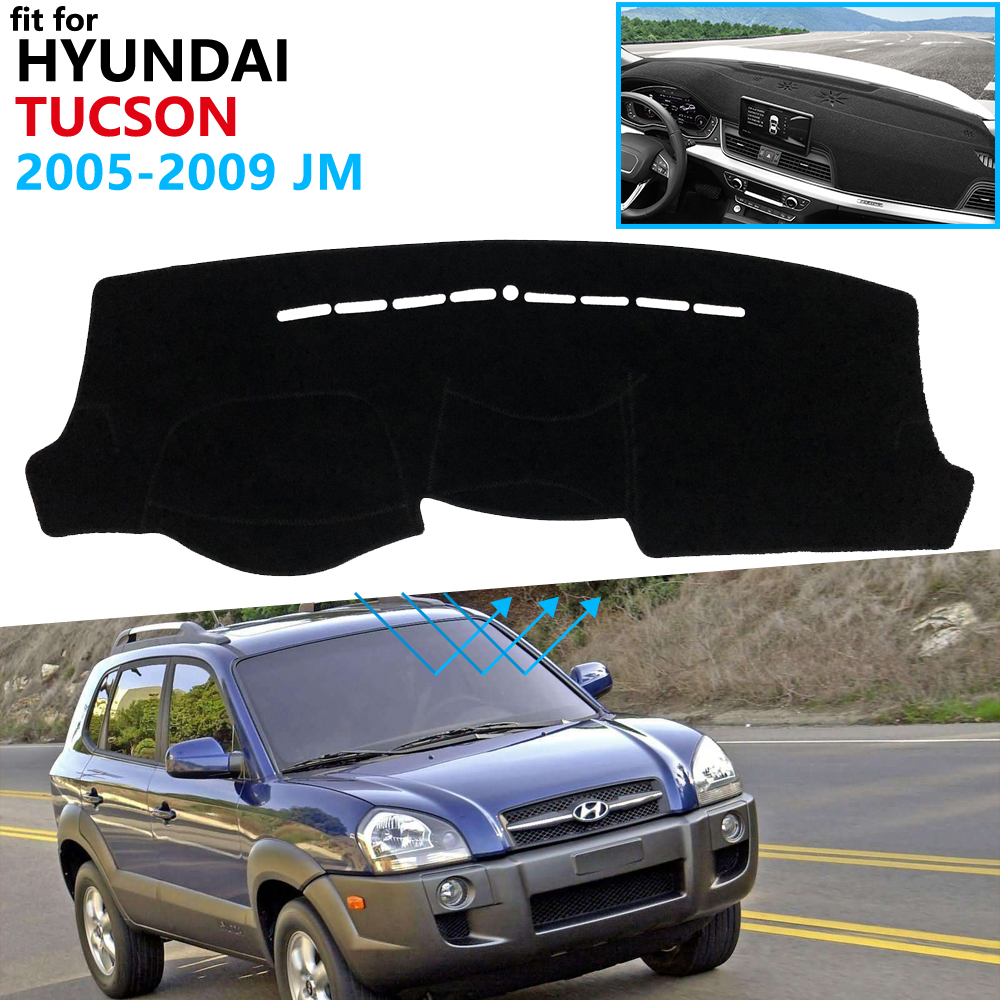 Dashboard Cover Protective Pad For Hyundai Tucson 2005 2006 2007 2008 2009 JM Car Accessories Dash Board Sunshade Carpet Dashmat