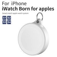 Magnético carregador sem fio para apple watch 1 2 3 4 series com chaveiro almofada de carregamento energia usb para iwatch acessórios txtb1
