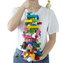 Glorystar игрушки попугая цветные хлопковые веревочные узлы