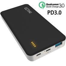 INIU 18 Вт PD3.0 power bank портативное зарядное устройство Тип C power bank для iPhone Xiaomi Mi телефон повербанк Зарядка Внешний аккумулятор