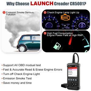 Image 3 - Lançamento obd2 scanner completo obd obdii motor leitor de código cr5001 ferramenta de verificação de diagnóstico do carro multi idioma scanner automotivo