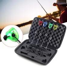 3 Set Carp Fishing Bite Alarm /& illuminated Swinger Indicator Blue LED with Case