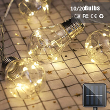 ledniceker multi colored solar led string lights with garden solar panel for garden patio christmas tree parties and all outdoor and indoor activities decoration 4 8 meters long 20 waterproof bulbs 10/20 Bulbs LED Solar String Lights Waterproof 8 Modes Extra Light Chain for Outdoor Indoor Garden Christmas Tree