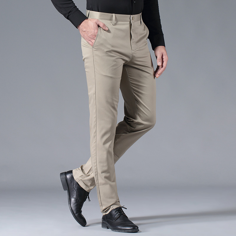 Spring And Summer MEN'S Casual Pants 2019 New Style No Ironing Stretch Trousers Fashion Business MEN'S Casual Pants