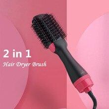 Hair Dryer Brush 2 In 1 Hair Straightener Curler Hair Blower Dryer Comb Hair Curler Curling Iron With Hair Brush Roller Styler цена 2017