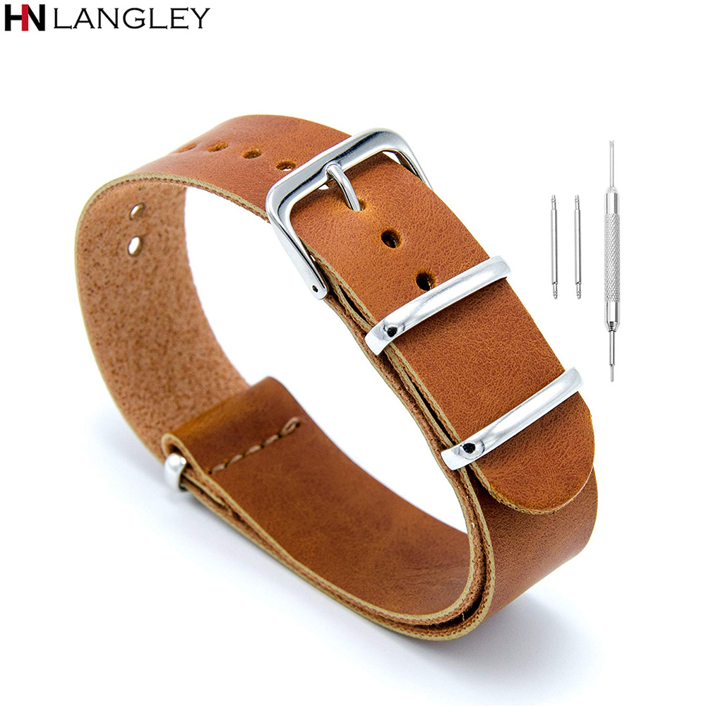 <font><b>Leather</b></font> NATO Zulu Military Swiss G10 <font><b>Watch</b></font> <font><b>Band</b></font> Strap 18mm 20mm 22mm 24mm Width <font><b>Watch</b></font> <font><b>Band</b></font> Straps for Men Women image