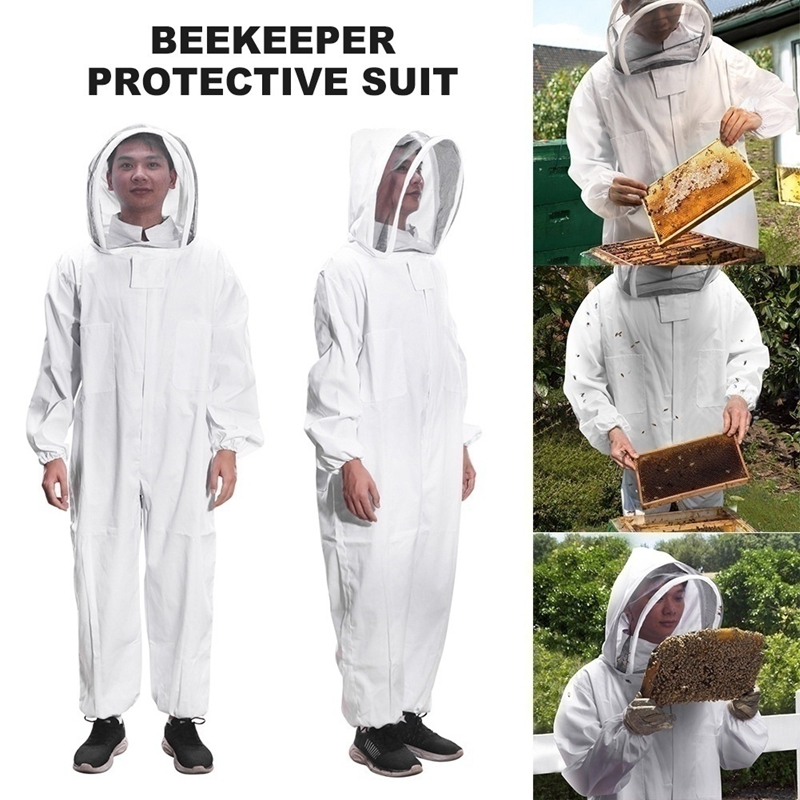 Full Body Beekeeping Clothing Veil Hood Hat Clothes Protective Beekeeping Suit Beekeepers Bee Suit Safety Clothing Work Clothes