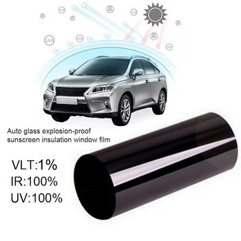 Car Window Film Anti-UV Car Home Window Glass Building Tinting Film Roll Side Window Solar UV Protection Sticker Curtain image