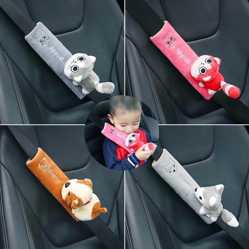 Car Styling Seat Belt Cover Shoulder Pad Cushion Cartoon Car Seatbelt Shoulder Protector Strap Harness Auto Neck Support Cushion