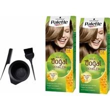 Палитра натуральных красок для волос Schwarzkopf 7,0 Auburn 50 мл x 2 шт. + набор для рисования