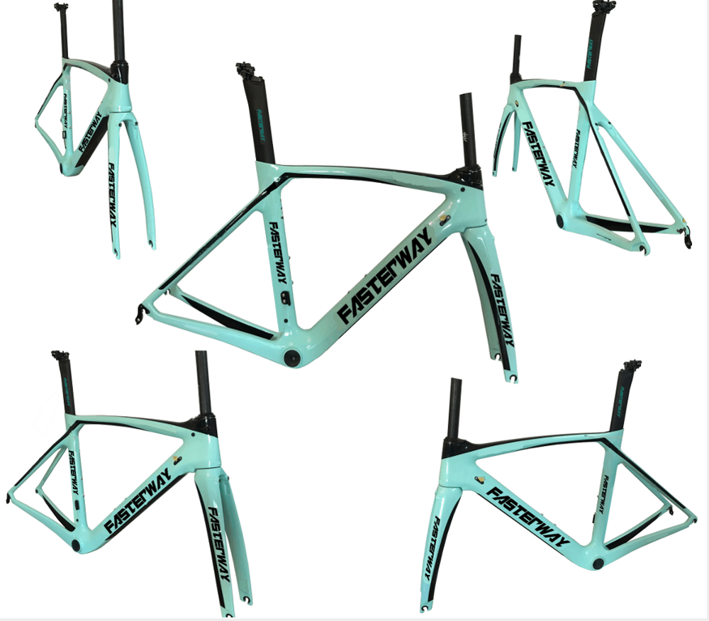 Taiwan Made Fasterway Xr4 Carbon Road Frame With New Seat Post Design Carbon Road Bike Frame+fork+seatpost+clamp+headset,