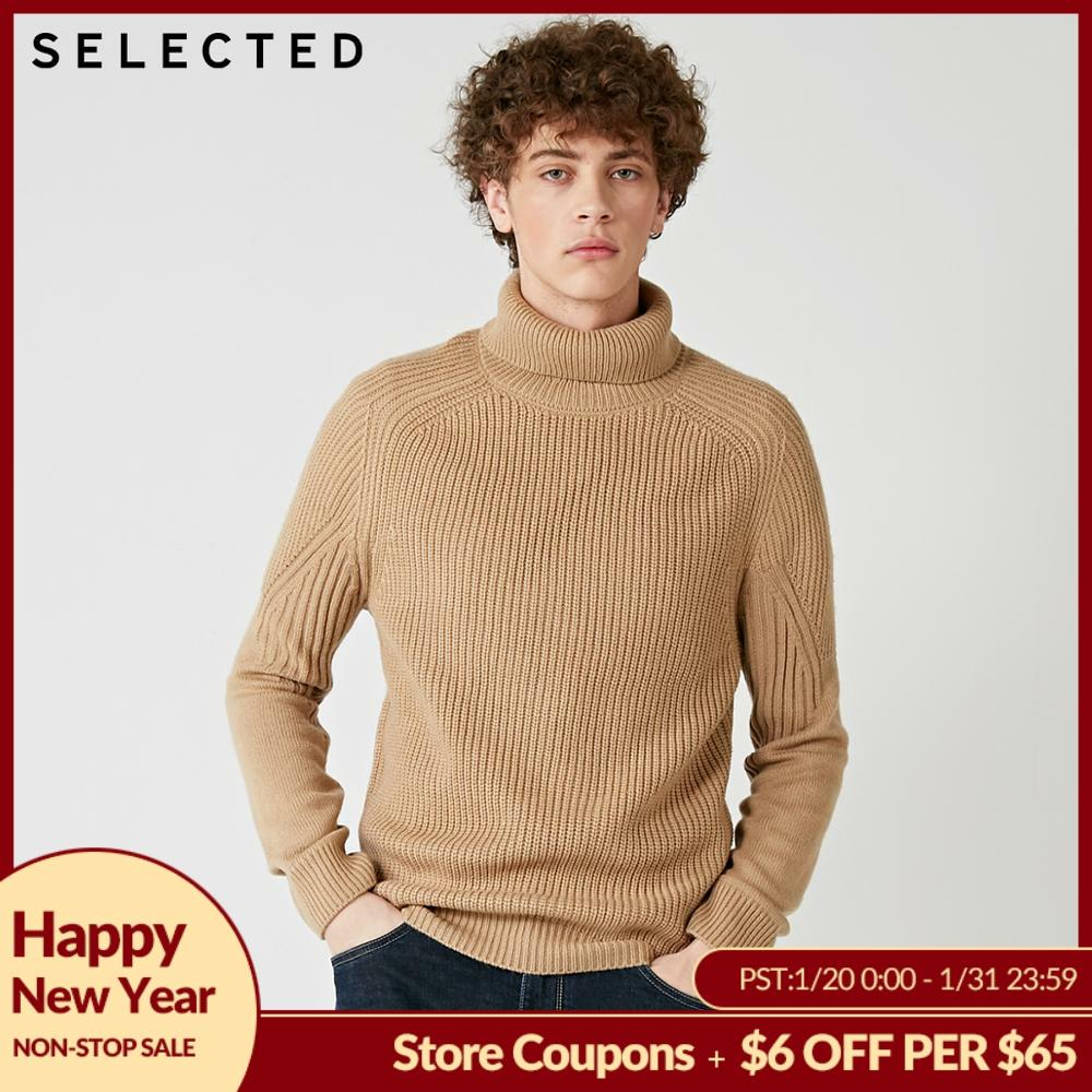 SELECTED 2019 High Neck Multiple Colors Turtleneck Knitted Pullovers Men's Wool-blend Sweater | 418425533