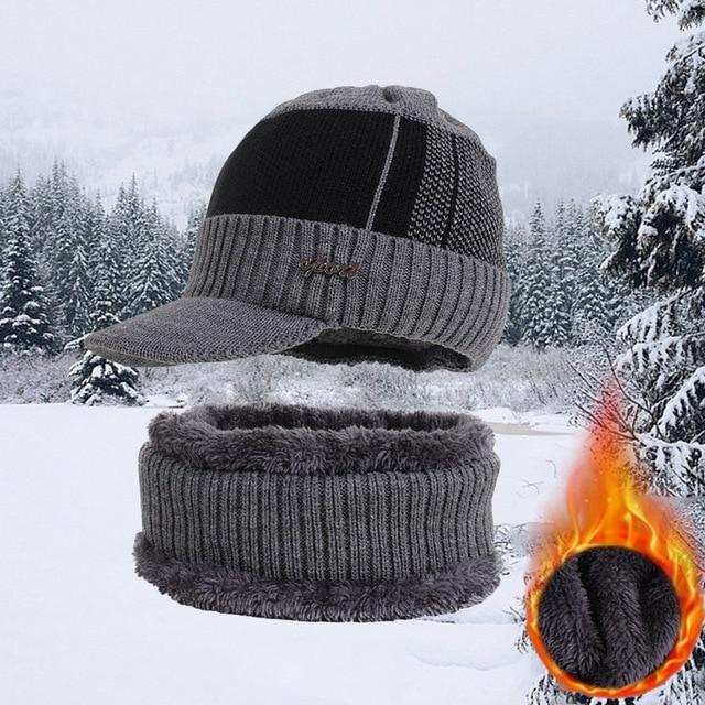 Winter Hats For Men Skullies Beanie Hat Winter Cap Men Women Wool Scarf Caps Set Balaclava Mask Gorras Bonnet Knitted Hat 2020 3