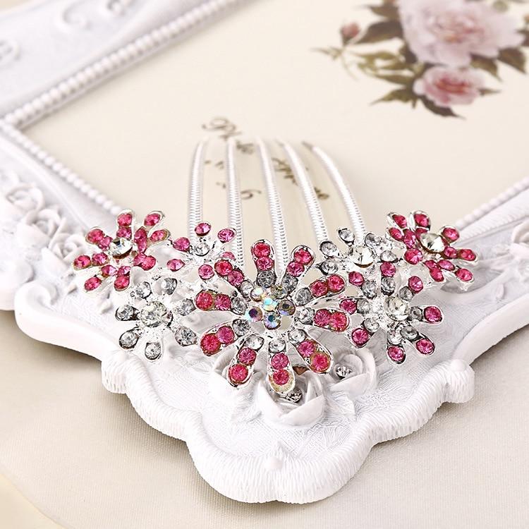 cristal conjunto auger noiva hairpin flor p-pin