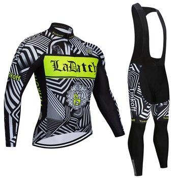 2019 Tinkoff primavera ciclismo jersey babero conjunto largo otoño bicicleta de carretera...