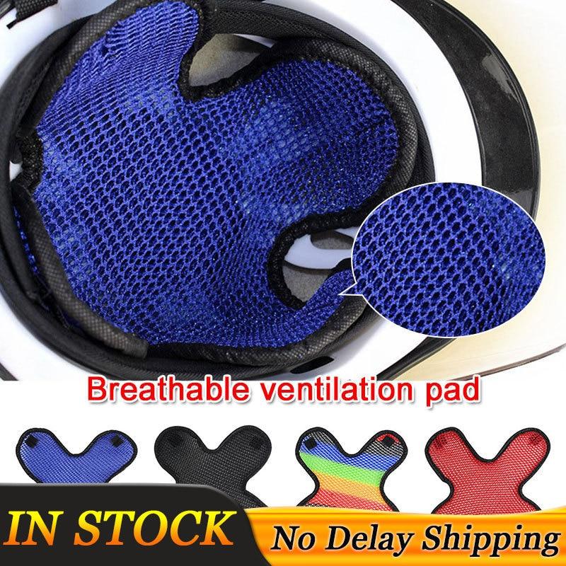 4 Colors Motorcycle Vehicle Helmet Padding Motorcycle Safety Protection Hat Cap Inner 3D Air Mesh Microfiber Helmet Cooling Pad